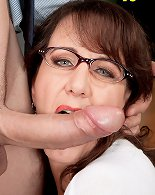 Huge tits mature lady fucked hard at the office