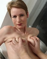 Horny milf throats hard before fucking in hardcore